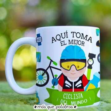 Tazón Aquí Toma el Mejor Ciclista