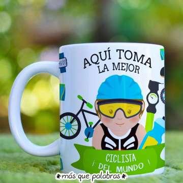 Tazón Aquí Toma la Mejor Ciclista