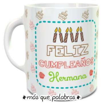 Tazón Cumpleaños Hermana