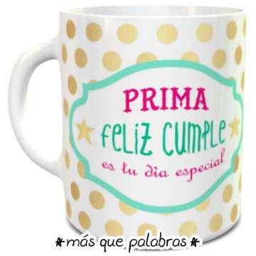 Tazón Cumpleaños Prima