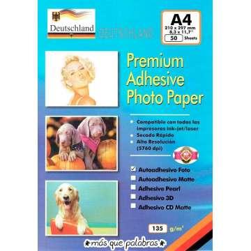 Papel Glossy Adhesivo 135 grs
