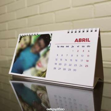 Calendario De Escritorio Personalizado 6 Hojas 12 Meses