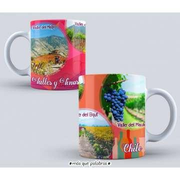 Tazón Paisajes Chile Valles y Vinos