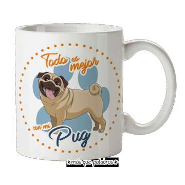 Tazón Perro Pug