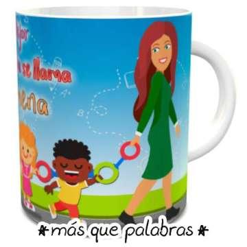 Tazón Educadora de Párvulos La Mejor Tía se Llama...
