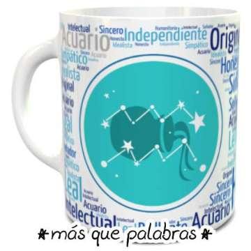 Tazón Signos Zodiacales Acuario