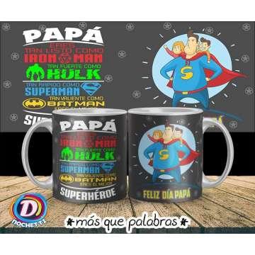 Tazón Papá Super Héroe